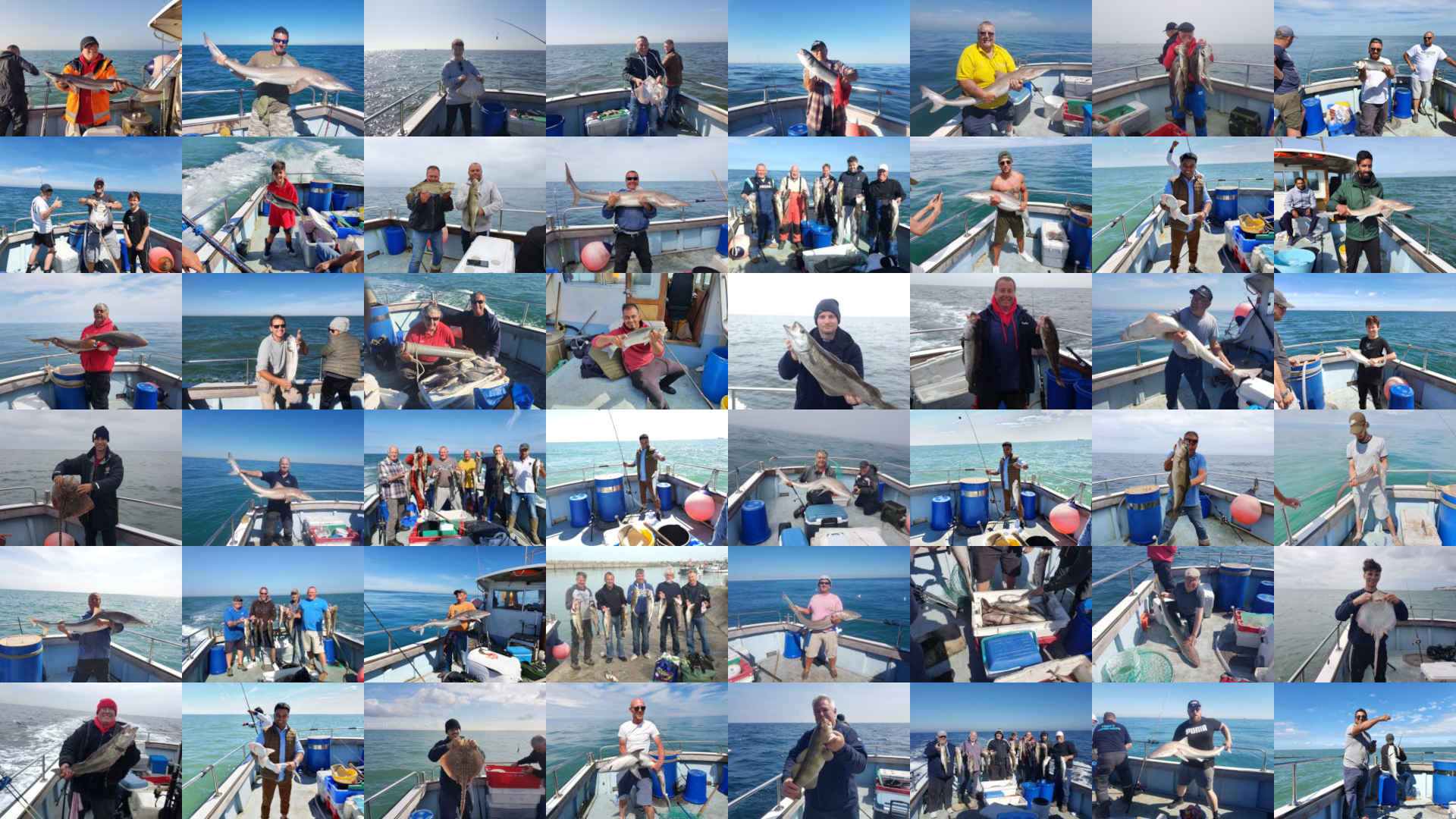 Collage of fishing pictures