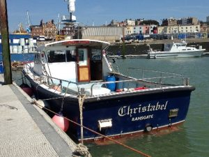 Charter boat Christabel in Ramsgate Harbour
